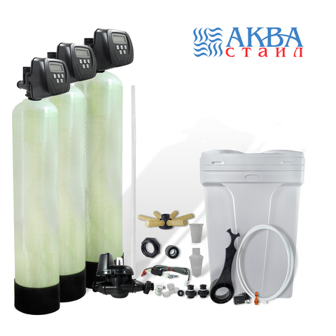 Ионообменная система очистки воды. Комплект: корпус TRIPLEX 36х72, клапан управления Clack 2S5E.