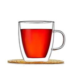 Кружка с двойными стенками для кофе и чая, 350 мл, стеклянная