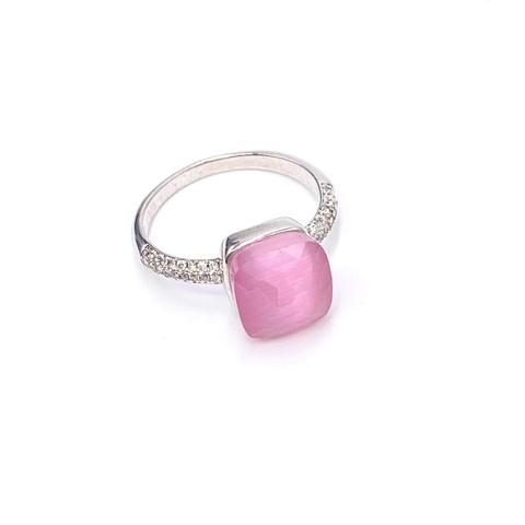 33309 -Кольцо Caramel  из серебра с розовым кварцем