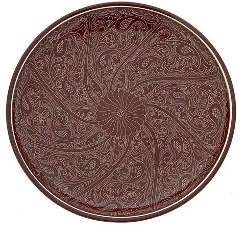 Риштанский Ляган плоский коричневый