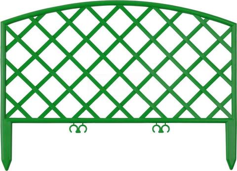 Заборчик пластиковый садовый Решетка высота 36,5см длина 2,3м (5 секций) Либра