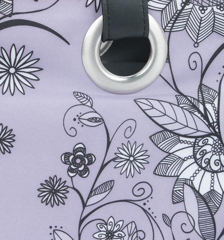 Термосумка Thermos Raya Tote-Purple Flower (14 л.), фиолетовая