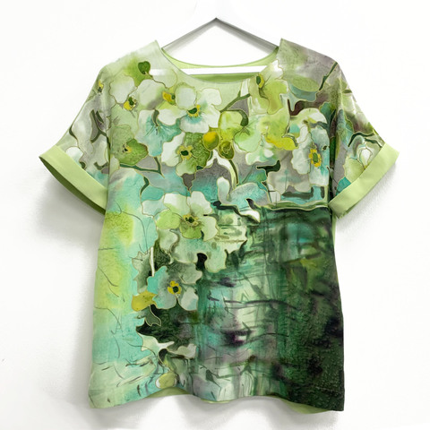 Шелковая блузка Свежесть