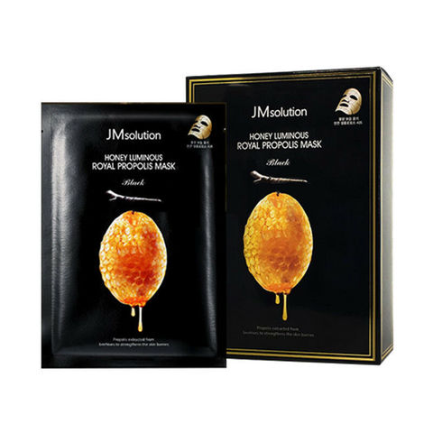 Восстанавливающая тканевая маска с прополисом JM SOLUTION HONEY LUMINOUS ROYAL PROPOLIS BIO CELLULOSE MASK Black