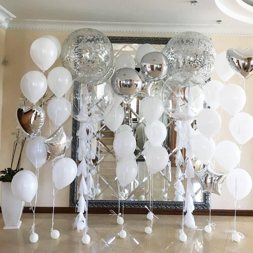 Украшение свадьбы шарами Композиция из воздушных шаров на Свадьбу efo9l433kgq.jpg