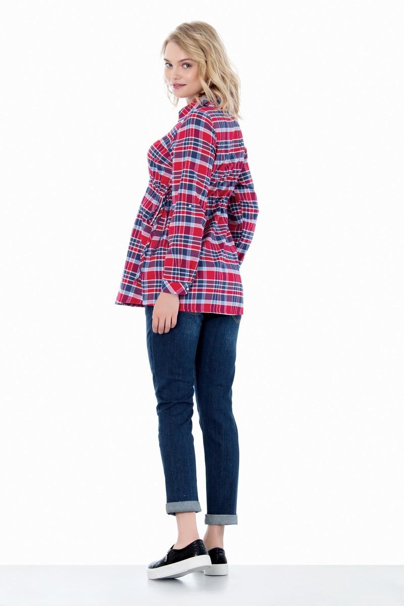 Рубашка для беременных 01400 красный