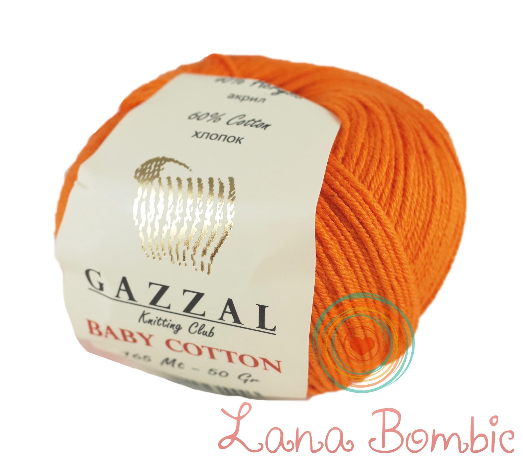 Пряжа Gazzal Baby Cotton 3419 оранжевый