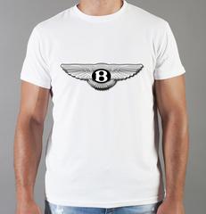 Футболка с принтом Бентли (Bentley) белая 003