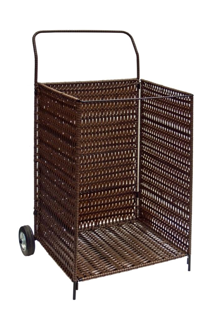 Корзина для дров, подкатная на колесиках