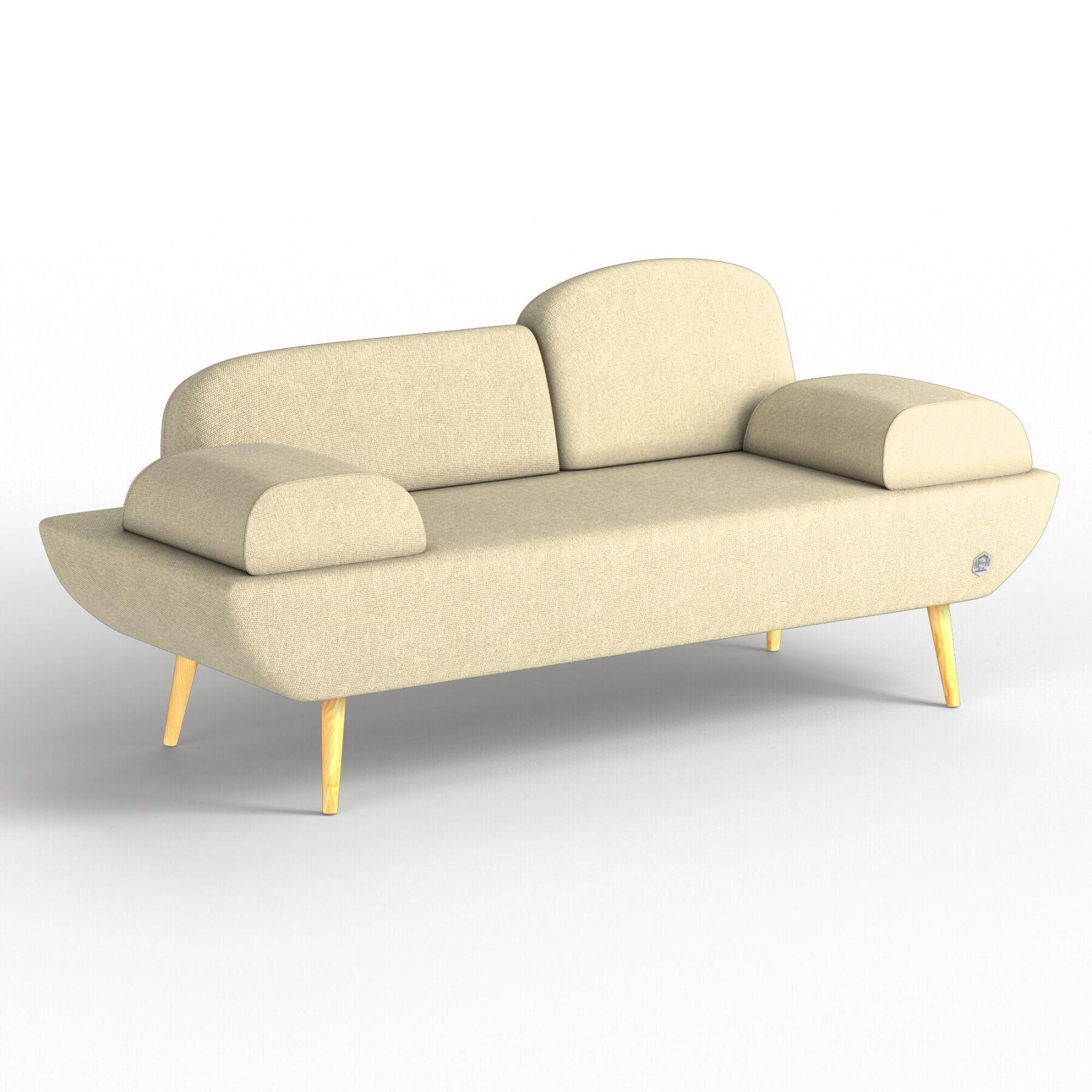 Двухместный диван KULIK SYSTEM LOFT Ткань Целый