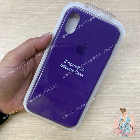 Чехол iPhone X/XS Silicone Slim Case /ultra violet/