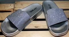 Красивые шлепанцы J.B.P. Shoes Nu1213 Silver.