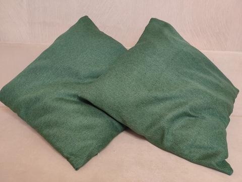 Декоративная наволочка темно-зеленая. 50 х 50 см,
