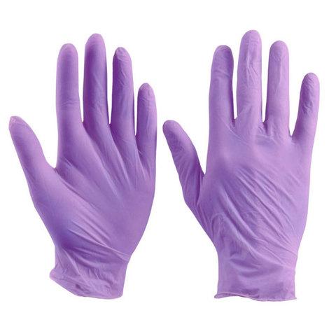 Перчатки нитрил MDC (HS102-210) SuperSoft M-size фиолетовые 100 пар/уп