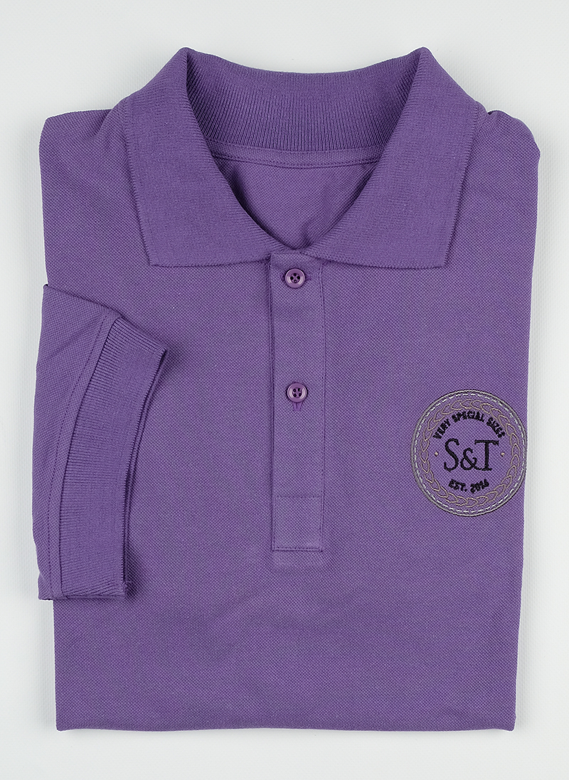 Поло S&T slim fit violete1503