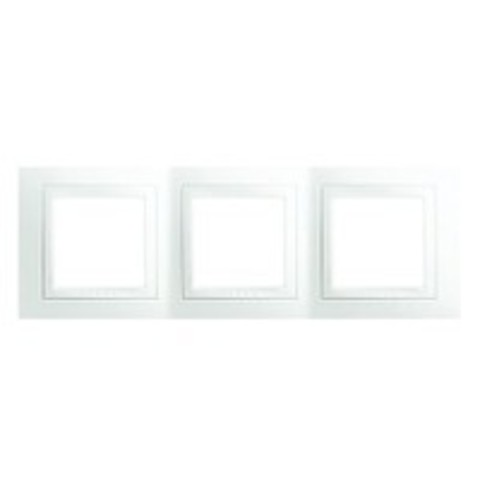 Рамка на 3 поста. Цвет Белый. Schneider electric Unica. MGU2.006.18