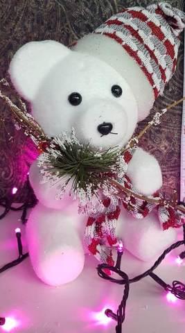 Новогодняя игрушка Медвежонок 25см