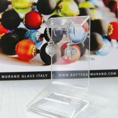 Серьги из муранского стекла со стразами Allegra Ca'D'oro Medio 040OB
