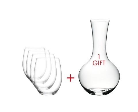 Набор для вина Cabernet/Merlot 600 мл + Syrah  Decanter 1040 мл артикул 5414/30. Серия  O Wine Tumbler