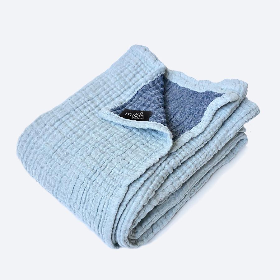 Муслиновое одеяло Mjölk Пыльный голубой