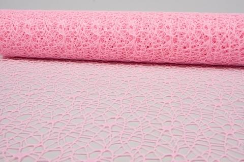 Сетка Ажурная (размер:50 см х 5 ярд) Цвет:светло-розовый