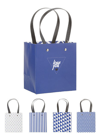 Geometry Series Gift Bag Small Size 054-3 (3 Pack)