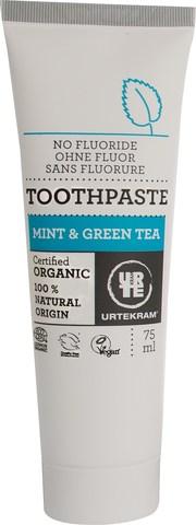 Urtekram Зубная паста Зеленый чай-мята, 75 мл