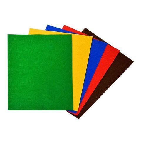 Фетр цветной Каляка-Маляка классические цвета (А4, 5 л., 5 цв.), в пакете с европодвесом, ФККМ05