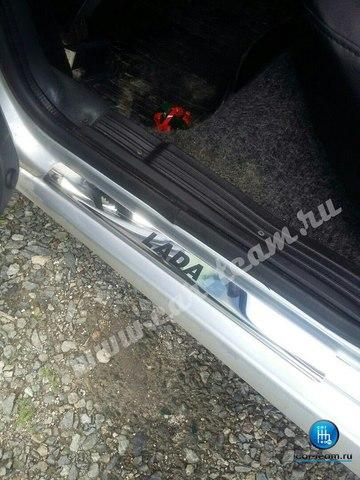 Хром накладки на пороги из нержавейки Lada на ВАЗ 2105-07