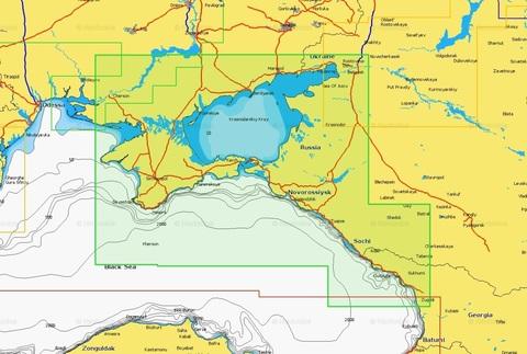 Карта: Азовское море, Крым, Черноморское побережье. Navionics+ 5G632S2