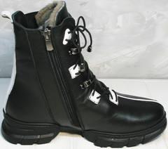 Ботинки зимние женские натуральная кожа Ripka 3481 Black-White.