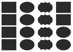 набор наклеек 4,5х6 см, фигурные, 2 листа, черные
