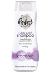 8in1 шампунь-кондиционер для собак PC White Pearl для светлых окрасов с ароматом кокоса