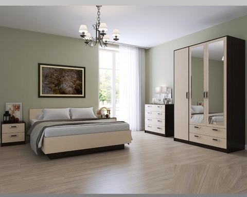 Спальня модульная ВЕКТОР-22 большая венге / дуб паллада