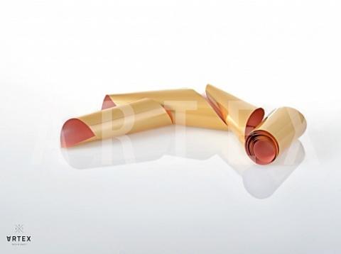 Фольга матовая (неополитанское золото) 1м х 4см  07230002
