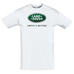 Футболка с принтом Ленд Ровер (Land Rover) белая