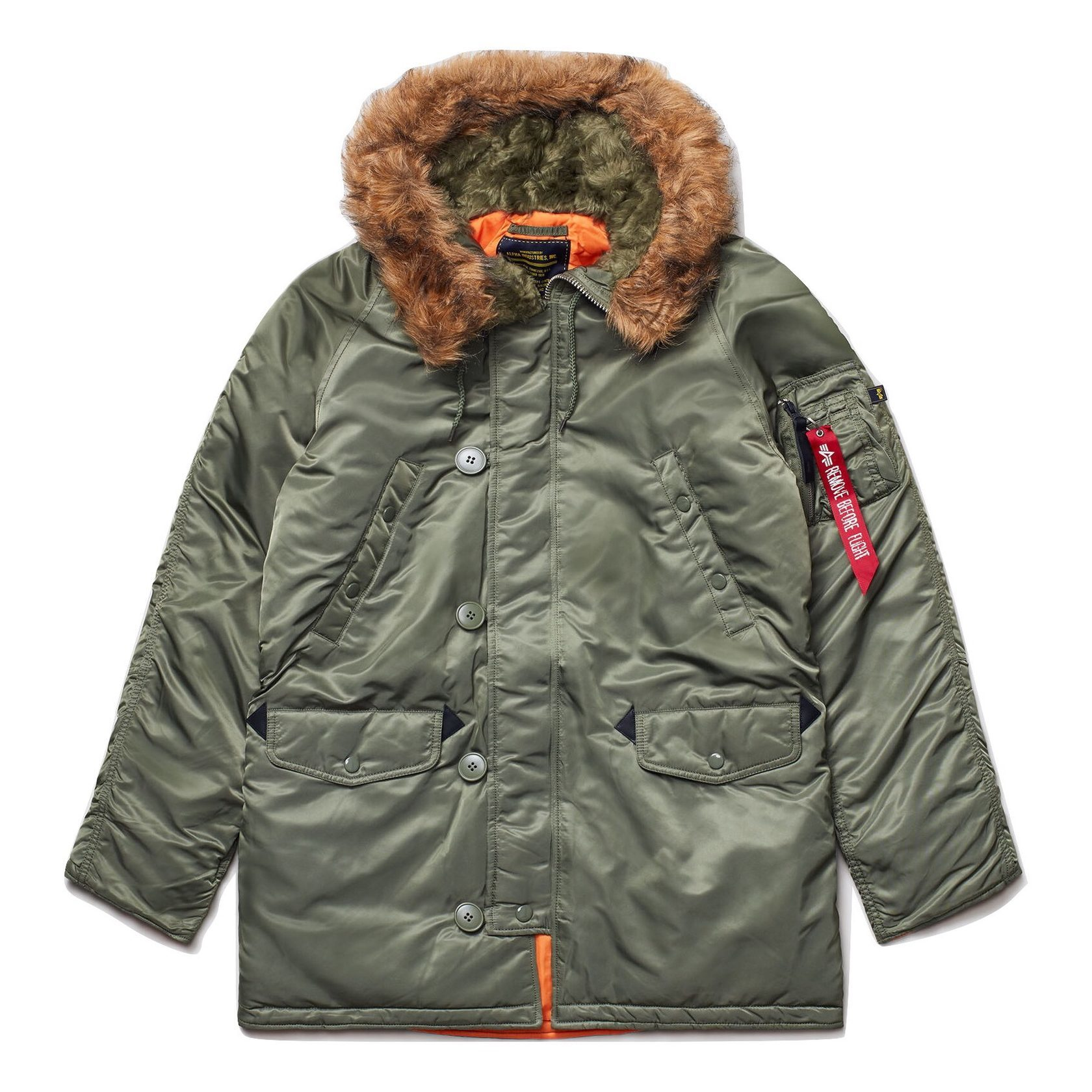 Парка Alpha Industries N-3B Slim Fit Sage Green