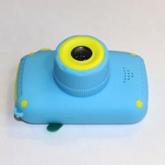 Фотоаппарат детский SmileZoom Мишка с селфи-камерой / 20 Мп / Синий