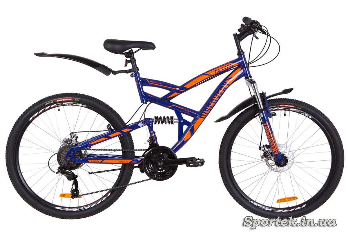 Горный мужской велосипед Discovery Canyon DD 2019 - сине-оранжевый