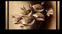 "Постер ""Бежевые цветы"""