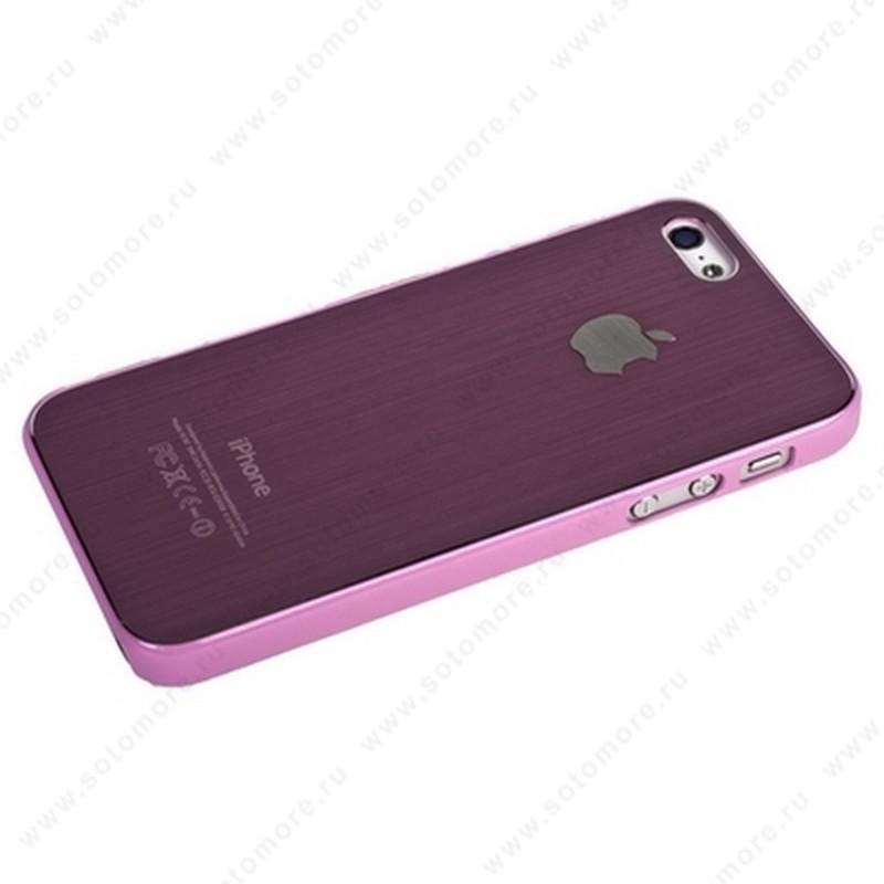 Накладка SGP металлическая для iPhone SE/ 5s/ 5C/ 5 розовая с розовой окантовкой