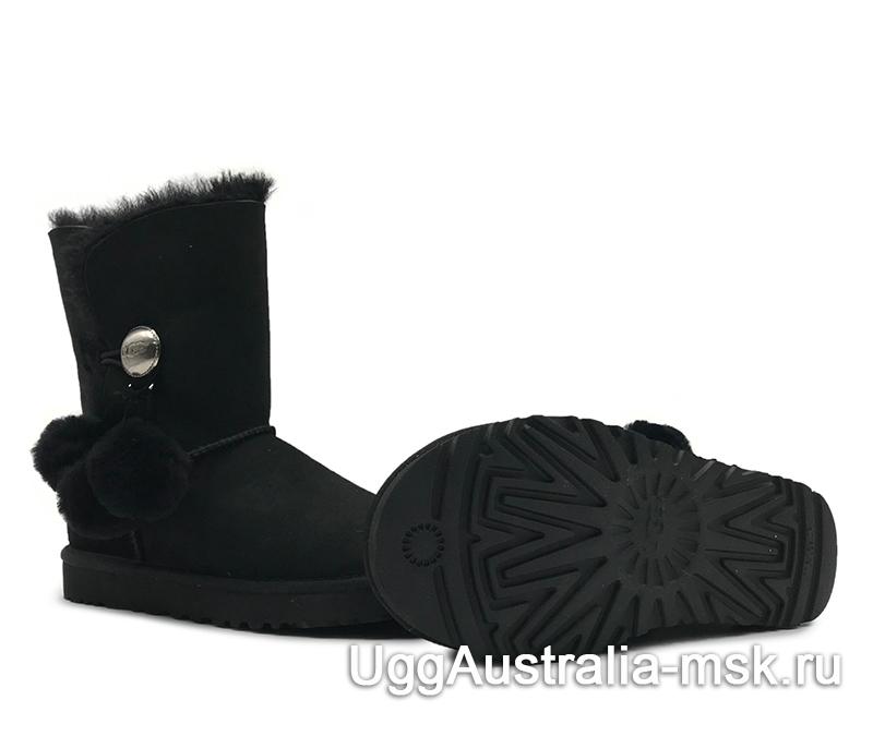 UGG Bailey Button Pom Black