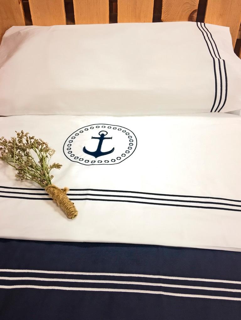 Santorini Savanna top sheet & pillowcase / double beige