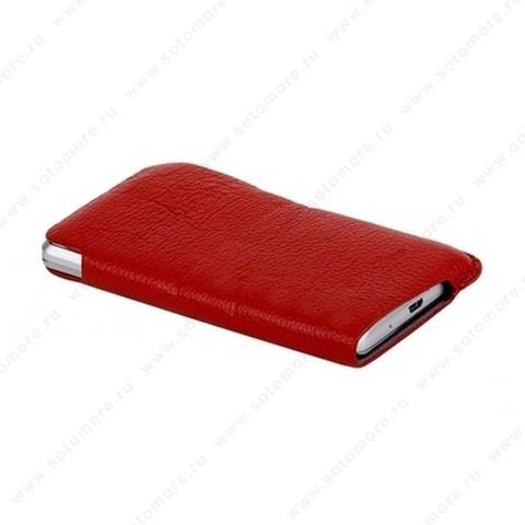Чехол-пенал кармашек Fashion для Samsung i9100 Galaxy S2 кармашек красный