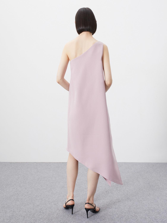 Платье Edven на одно плечо, Розовый