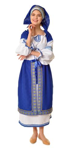 Народный костюм с синей поневой