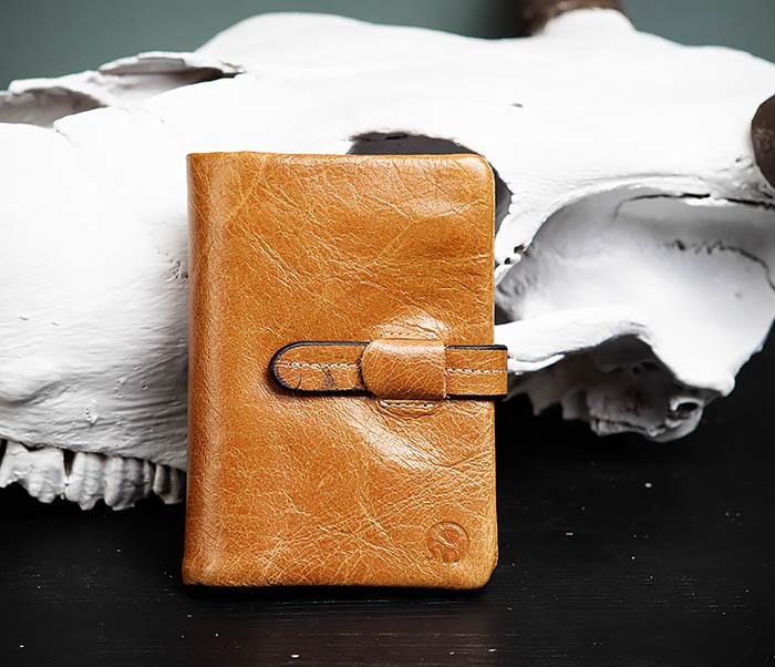WL245-3 Мужское портмоне из натуральной кожи с ключницей, помещается техпаспорт