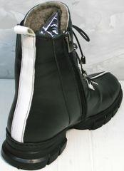 Высокие ботинки зимние женские Ripka 3481 Black-White.
