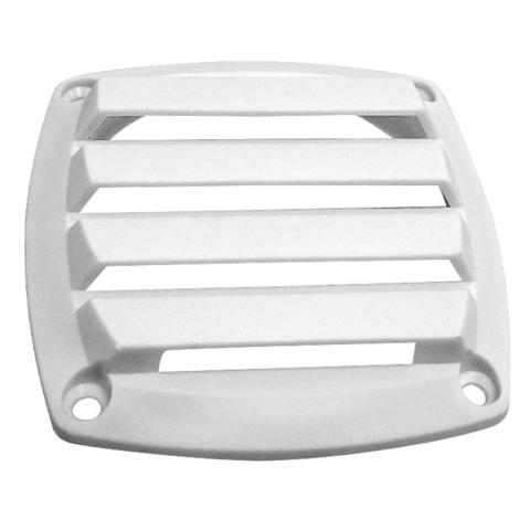 Крышка вентиляции пластмассовая 127х127 мм, белая