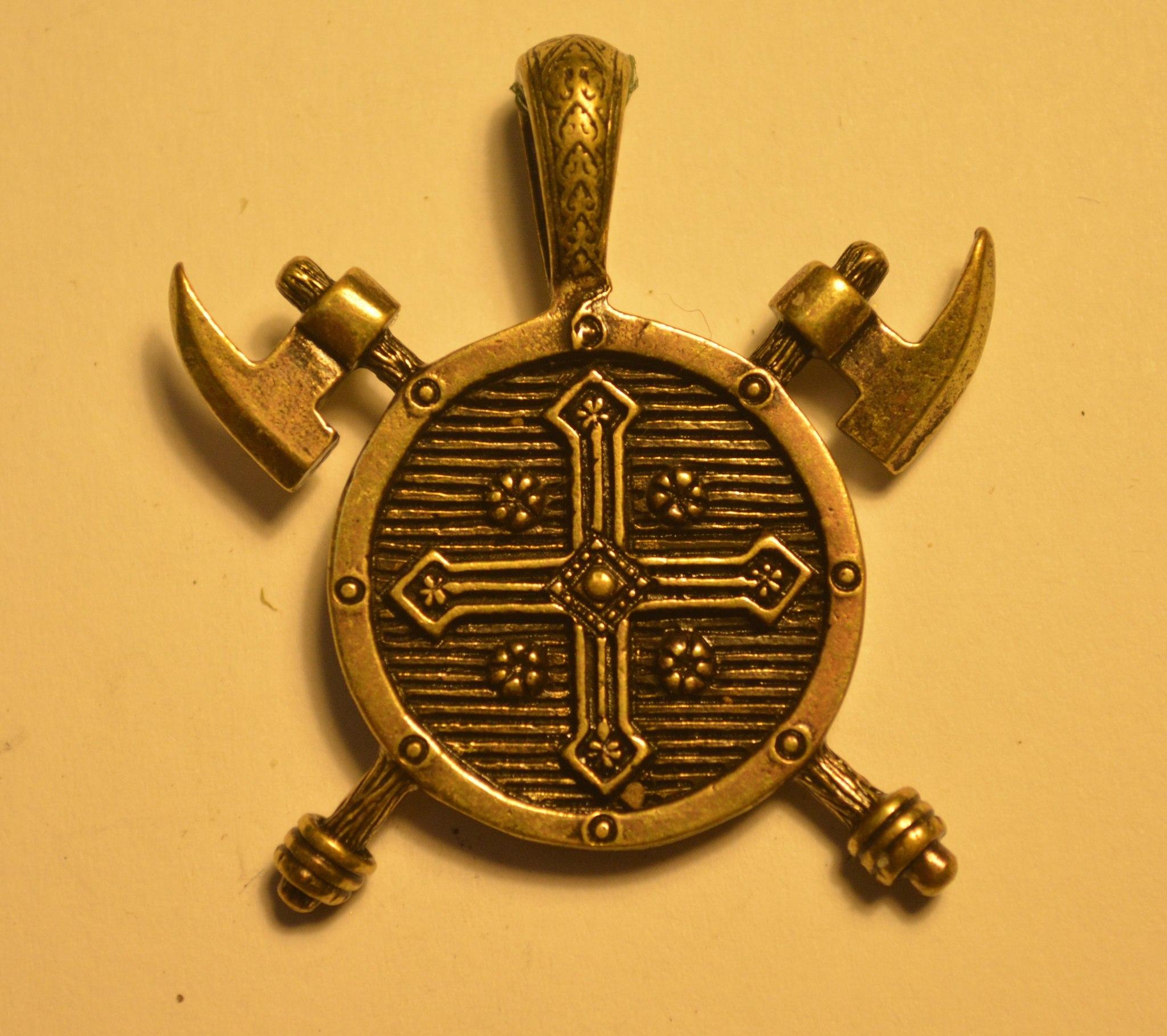 Авторский кулон из бронзы